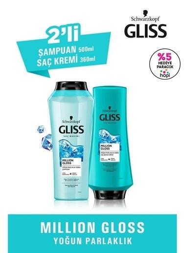 Gliss Million Gloss Yoğun Parlaklık Seti (şampuan 500 Ml + Saç Kremi 360 Ml)  Renksiz